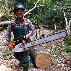 nick morgan holding chainsaw